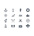 Marine and nautical icons vector image