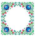 Polish floral folk embroidery frame pattern vector image