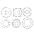 round frames - set of vintage elements vector image