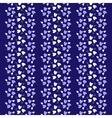 Blue Heart Seamless Wallpaper Pattern vector image