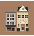 Old buildinf style european facade vector image