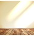 Empty beige wall and wooden floor room EPS 10 vector image vector image