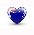 Heart-shaped icon with national flag of Australia vector image vector image