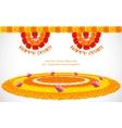 Flower Rangoli for Onam vector image vector image