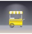 Yellow cart for sale lemonade vector image vector image