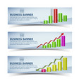 business infographic horizontal banners vector image