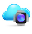 chip and cloud on white background vector image