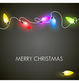 Christmas background with colorful lights vector image