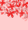 colorful abstract floral vector image