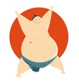 Fat Sumo fighter vector image