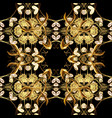 golden floral seamless pattern golden element on vector image