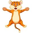 Happy tiger cartoon vector image