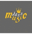 Jazz - live music Lettering vector image