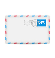 Postage envelope with stamp vector image