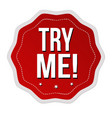 try me sticker or label vector image