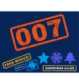 007 Rubber Stamp vector image