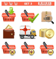 Shopping Icons Set 3 vector image
