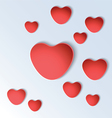 Heart shapes on colorful background vector image
