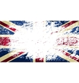 Great Britain flag Grunge background vector image