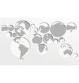 World map circles vector image