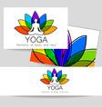 lotos yoga logo vector image