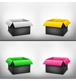 3D black multicolored box vector image vector image
