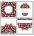 Set of abstract cards vector image vector image