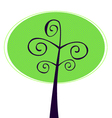 Ornamental Tree isolated on white vector image