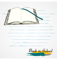 book opened vector image