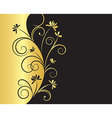 Floral Background in Black and Gold Colors vector image