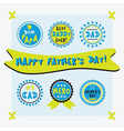 Happy fathers day cute emblems set vector image
