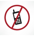 no cellphone sign vector image