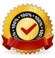 satisfaction warranty label vector image