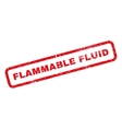 Flammable Fluid Rubber Stamp vector image