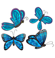 Four butterflies vector image