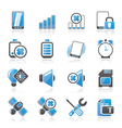 Mobile Phone sign icons vector image vector image