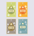 4 season labels vector image