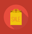 Business Flat Icon Shopping Bag vector image