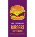 Cheeseburger sale flyer vector image