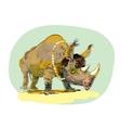 Wild Rhino men evolution vector image