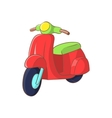 Red scooter icon cartoon style vector image