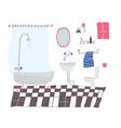 Bathroom cartoon in sketchy style vector image