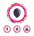 birthday party icons cake with ice cream symbol vector image