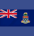 cayman islands waving flag vector image