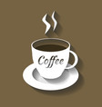 Coffee cup cut from paper vector image