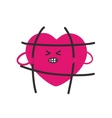 Fashion patch heartthat breaks the bars vector image