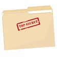 File folder with stamp top secret vector image