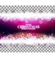 Magic purple background with snowflakes vector image