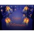 Spooky Halloween Forest vector image