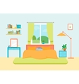 Interior Classic Bedroom with Furniture and Window vector image